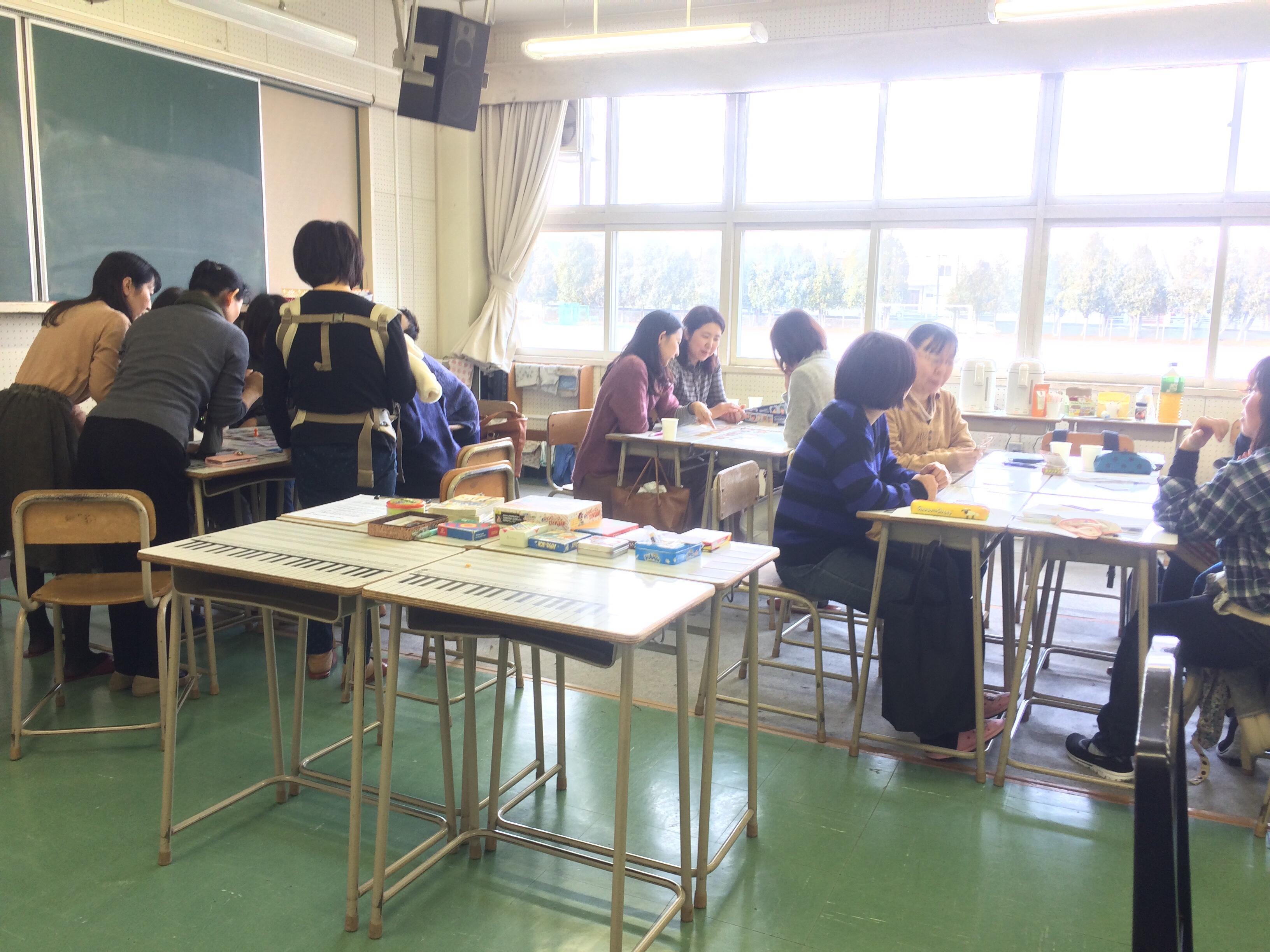 札幌市立中学校の家庭教育学級でアナログゲーム講座  レポート